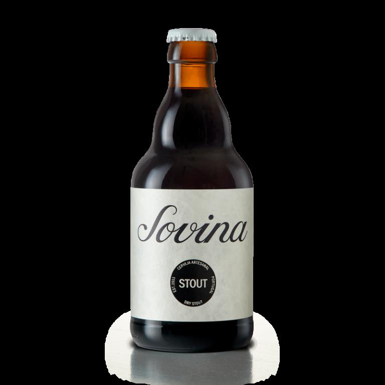 garrafa de Sovina Stout com nova imagem